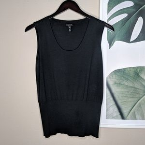 Escada Black Cashmere Silk Wool Blend Sweater Vest